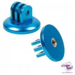 Adattatore Treppiede in alluminio per GoPro - Azzurro