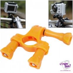Attacco da Manubrio Moto/Bici per GoPro - Arancione