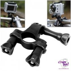 Attacco da Manubrio Moto/Bici per GoPro - Nero