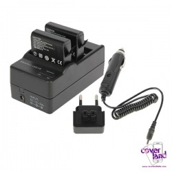 Caricabatterie Dual Battery per batterie GoPro HERO4