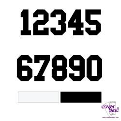 Numeri termosaldabili per maglie calcio