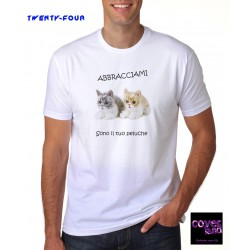 "T-Shirt by TWENTY-FOUR - ""Abbaracciami"" Cats"