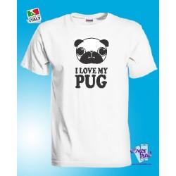 T-shirt I LOVE MY PUG