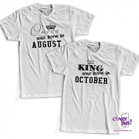 T-Shirt UOMO/DONNA MANICA CORTA KING & QUEEN WAS BORN